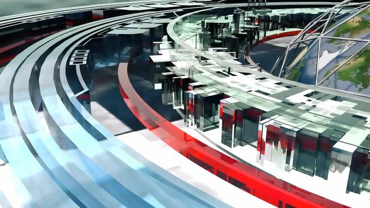 Flight around earth - cybernetic future: Motion Graphics