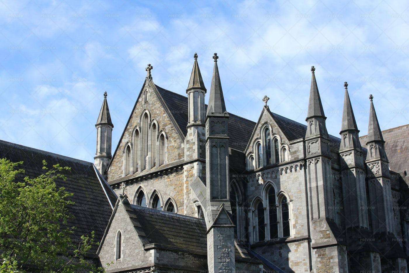 St Patrick's Cathedral Facade: Stock Photos