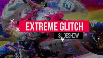 Extreme Glitch Slideshow: Premiere Pro Templates