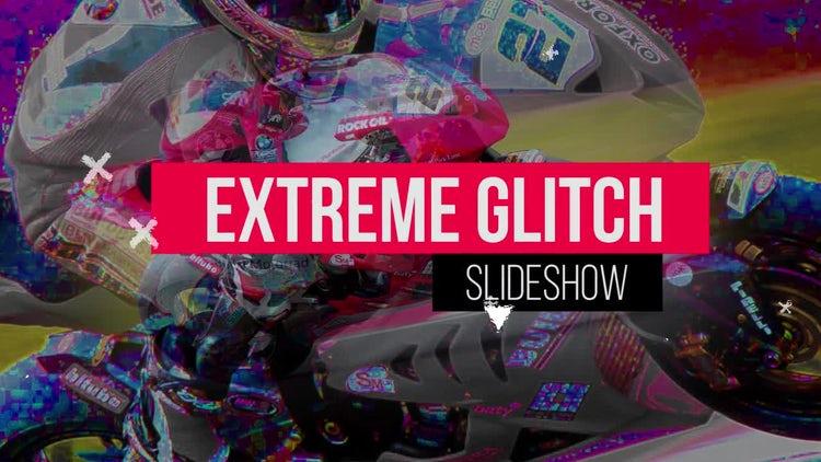 Extreme Glitch Slideshow: Premiere Pro Templates