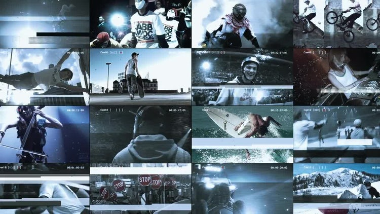 MultiScreen Glitch Promo: After Effects Templates
