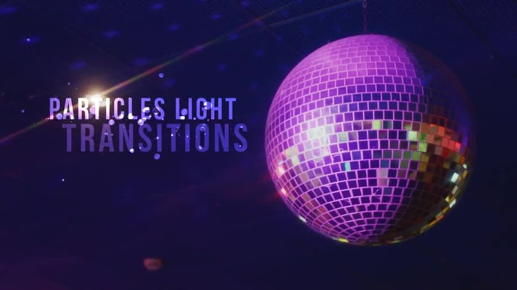 Particles Light Transitions : Motion Graphics
