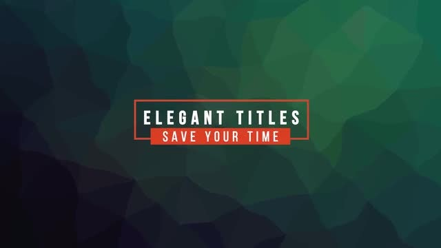 Modern Titles V7: After Effects Templates