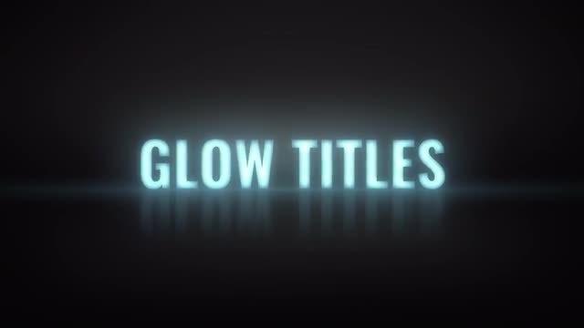 Glow Titles: Premiere Pro Templates