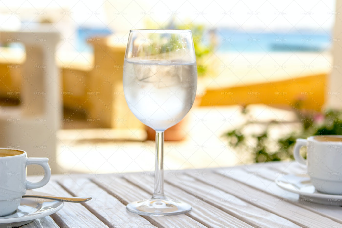 Glass Of Water With Ice: Stock Photos