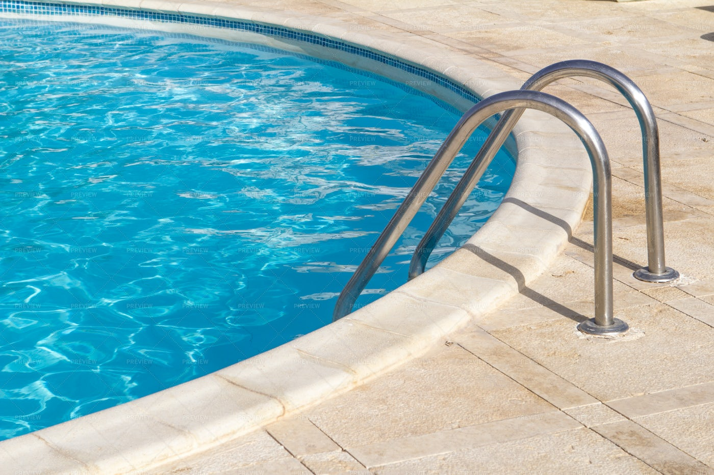 Stairs Into A Pool: Stock Photos