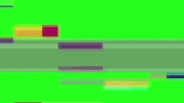 Glitch TV Screen with Green Background: Stock Video