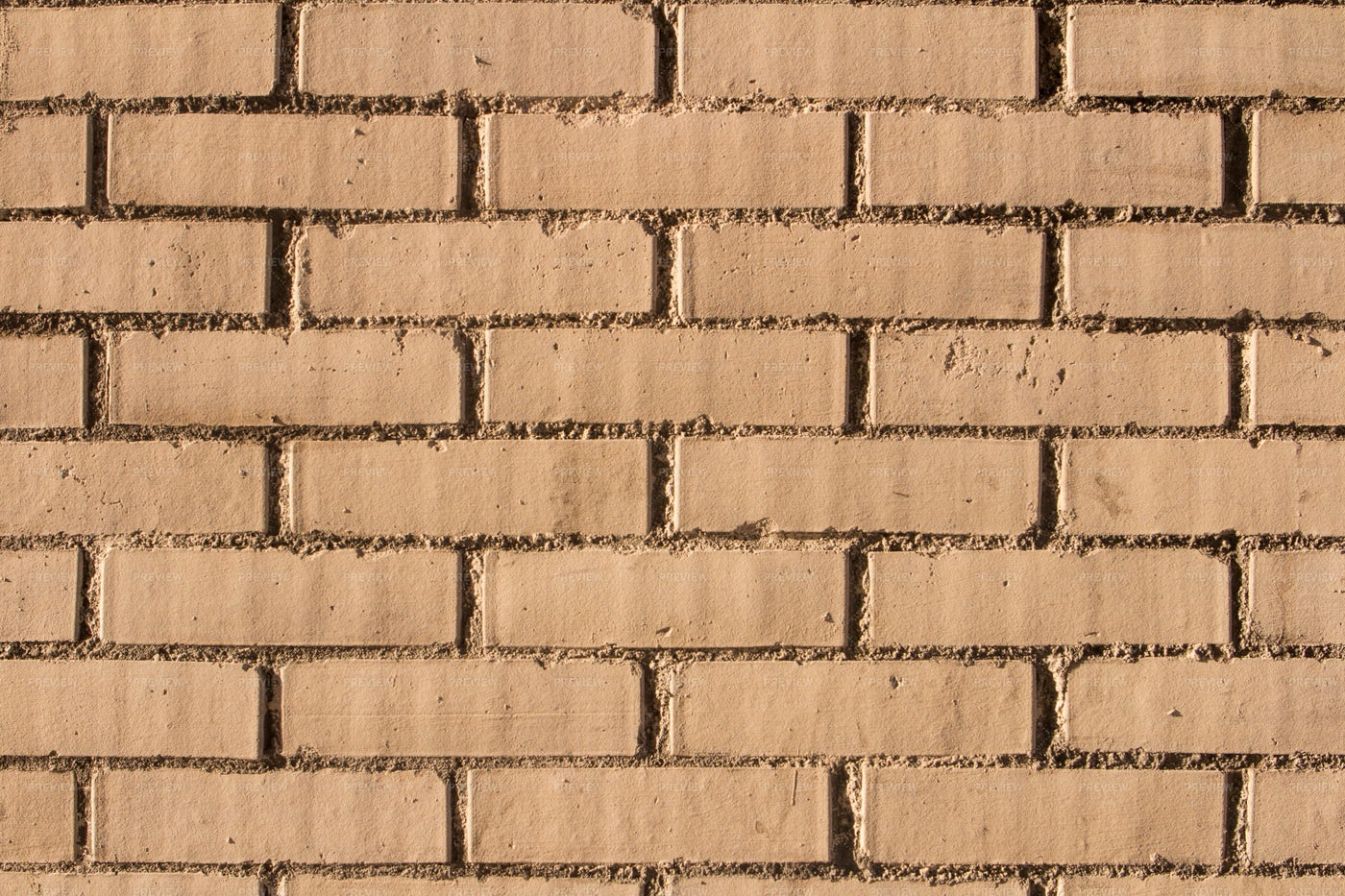 Brown Brick Wall With Gray Cement: Stock Photos