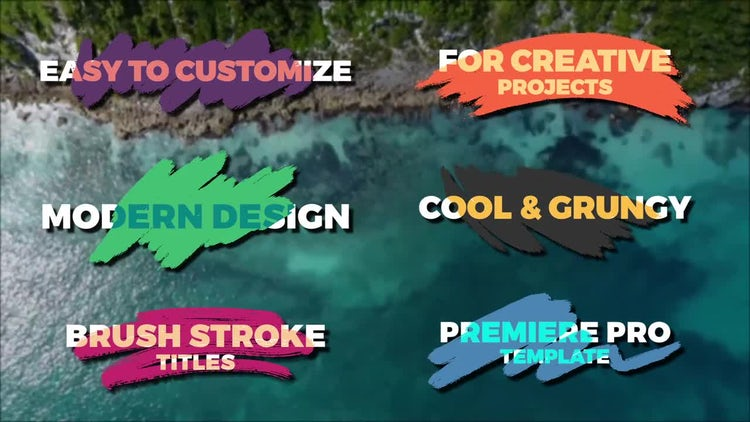 Brush Stroke Titles: Premiere Pro Templates