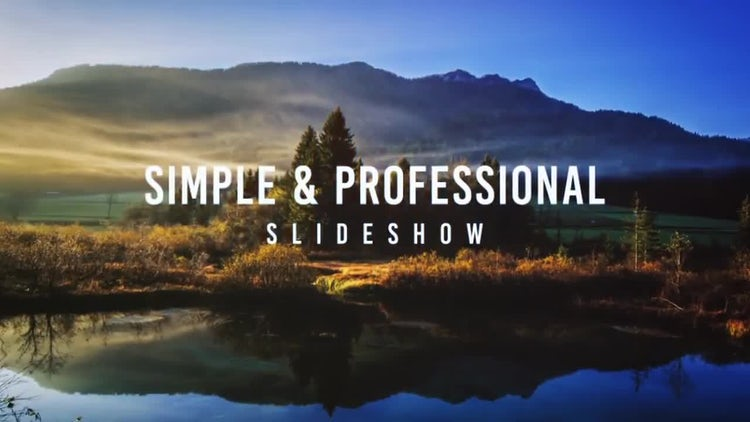 Simple Professional Slideshow: After Effects Templates