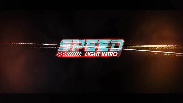 Speed Light Logo Intro: After Effects Templates