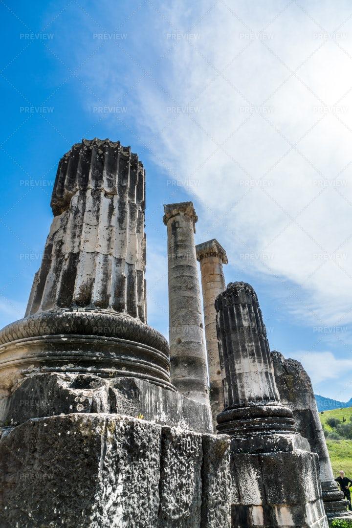 Columns At Temple Of Artemis: Stock Photos