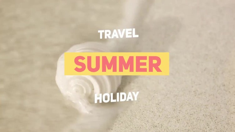 Summer Travel: Premiere Pro Templates