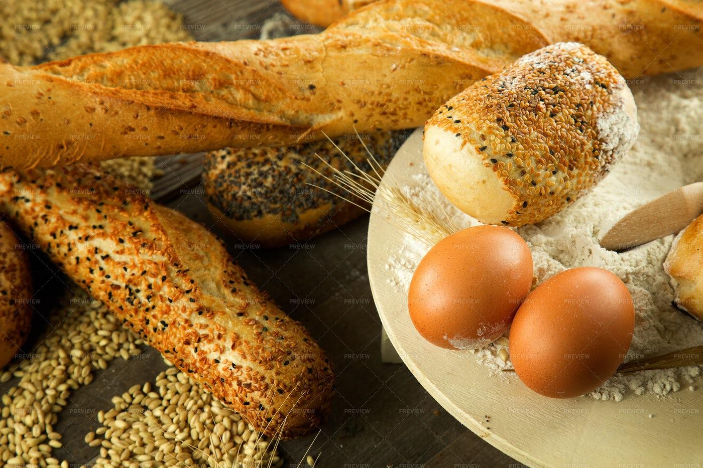 Rustic Fresh Bread: Stock Photos