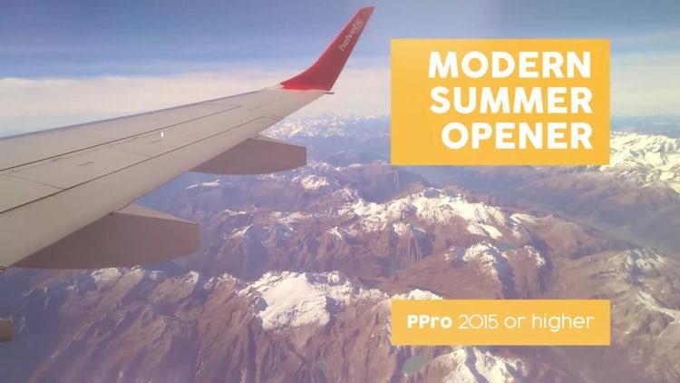 Modern Summer Opener: Premiere Pro Templates