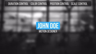Lower Thirds: After Effects Templates