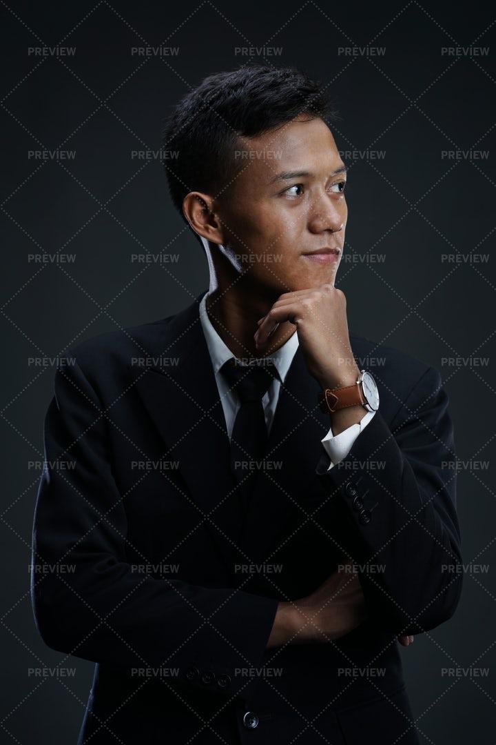 Thoughtful Businessman: Stock Photos