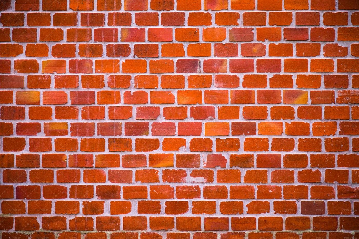 Red Stone Brick Wall: Stock Photos