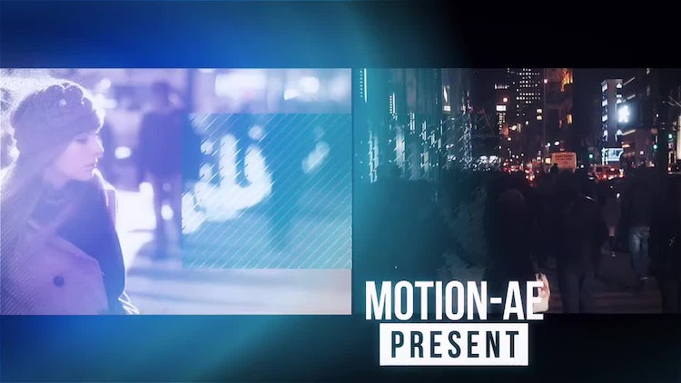 Upbeat Glitch Slideshow: After Effects Templates