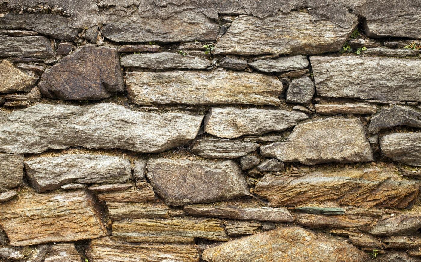 Grunge Stone Brick Wall: Stock Photos