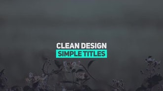 Fresh Minimal Titles: Premiere Pro Templates