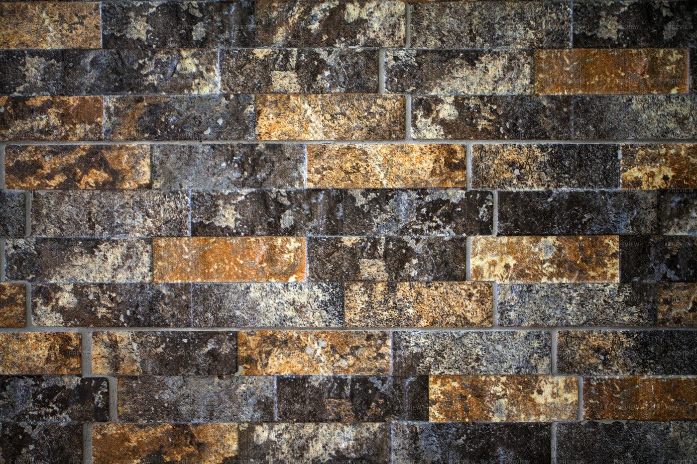 Grunge Stone Brick Wall Background: Stock Photos