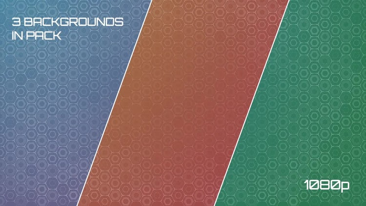 Abstract Hexagons Background Pack: Stock Motion Graphics