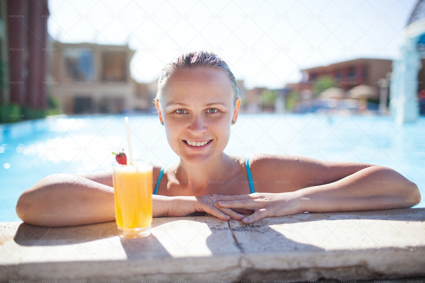 Poolside Cocktail: Stock Photos