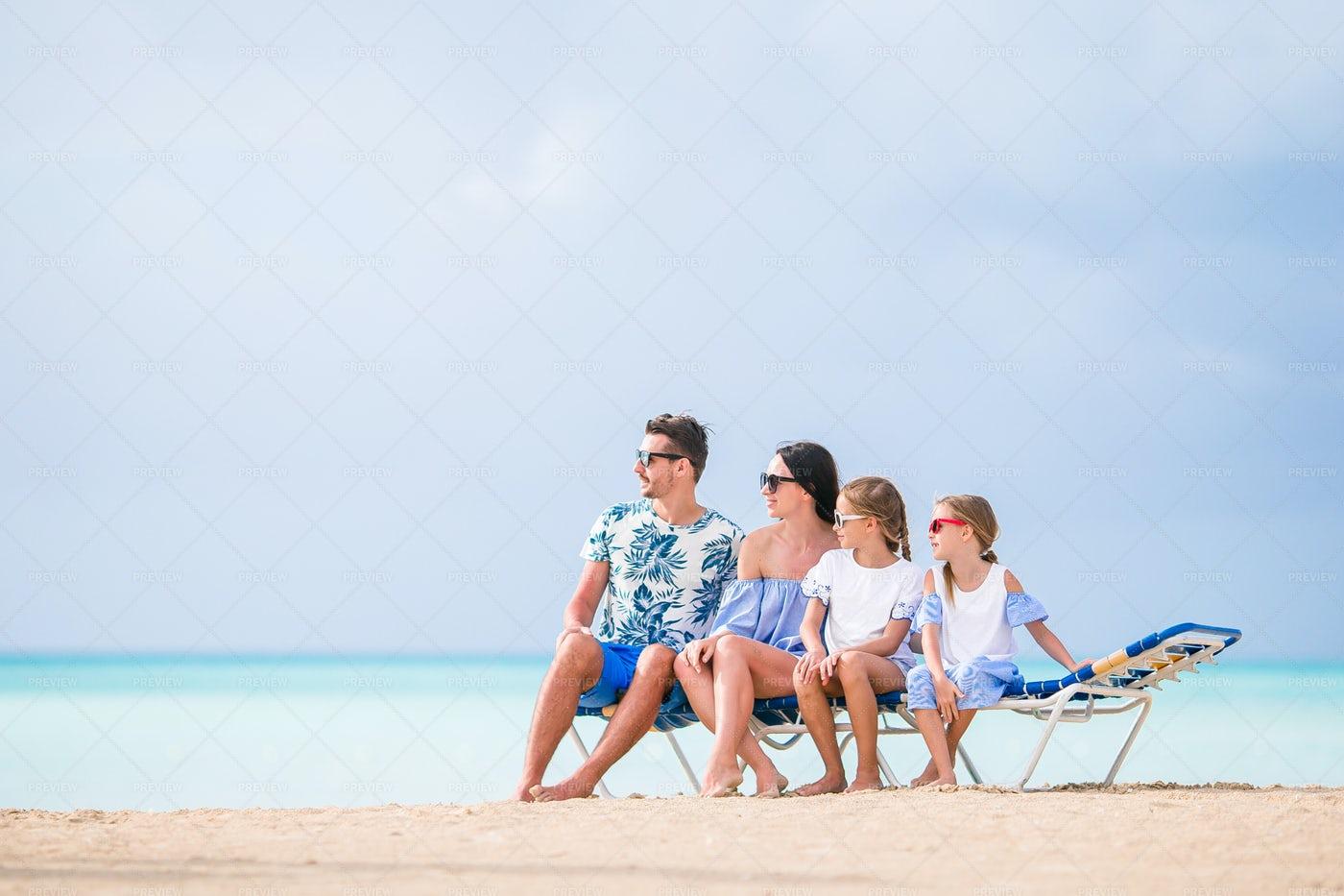 Happy Family On Vacations: Stock Photos