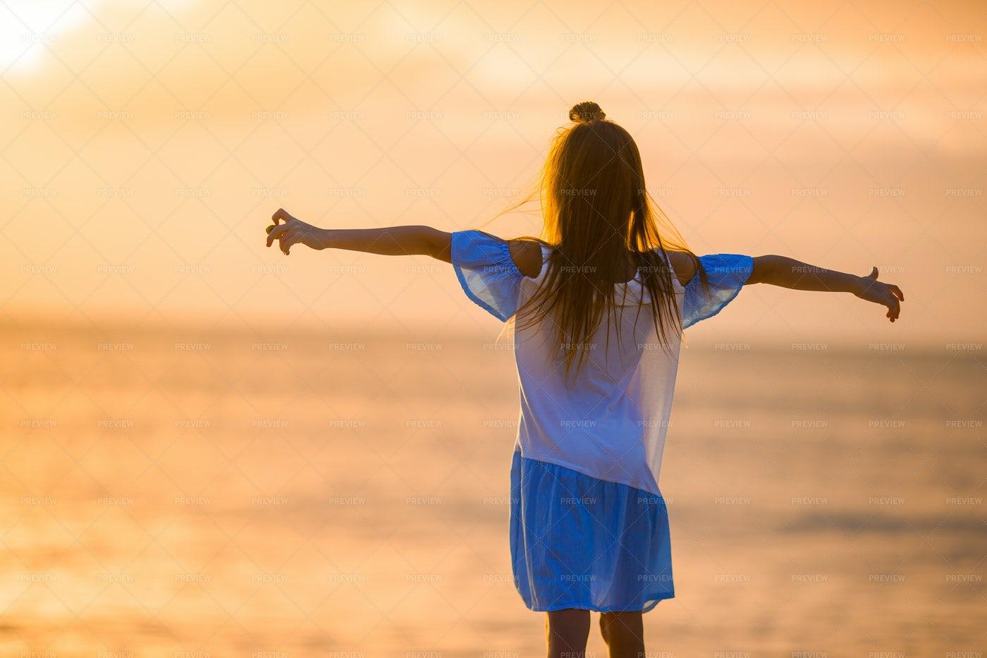 Freedom On The Beach: Stock Photos