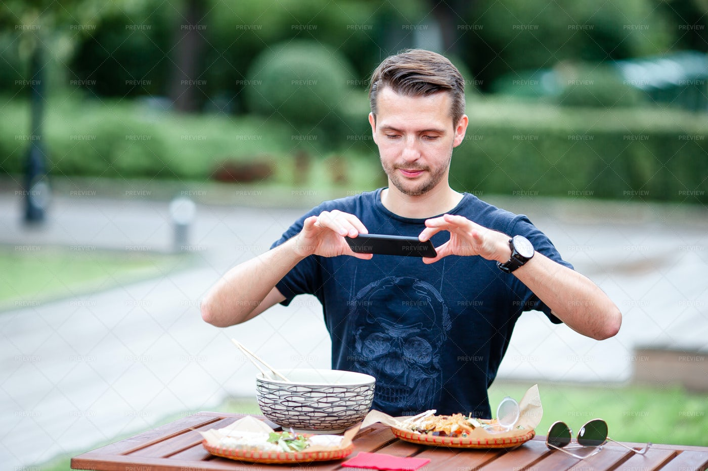 Taking Picture Of Delicious Meal: Stock Photos