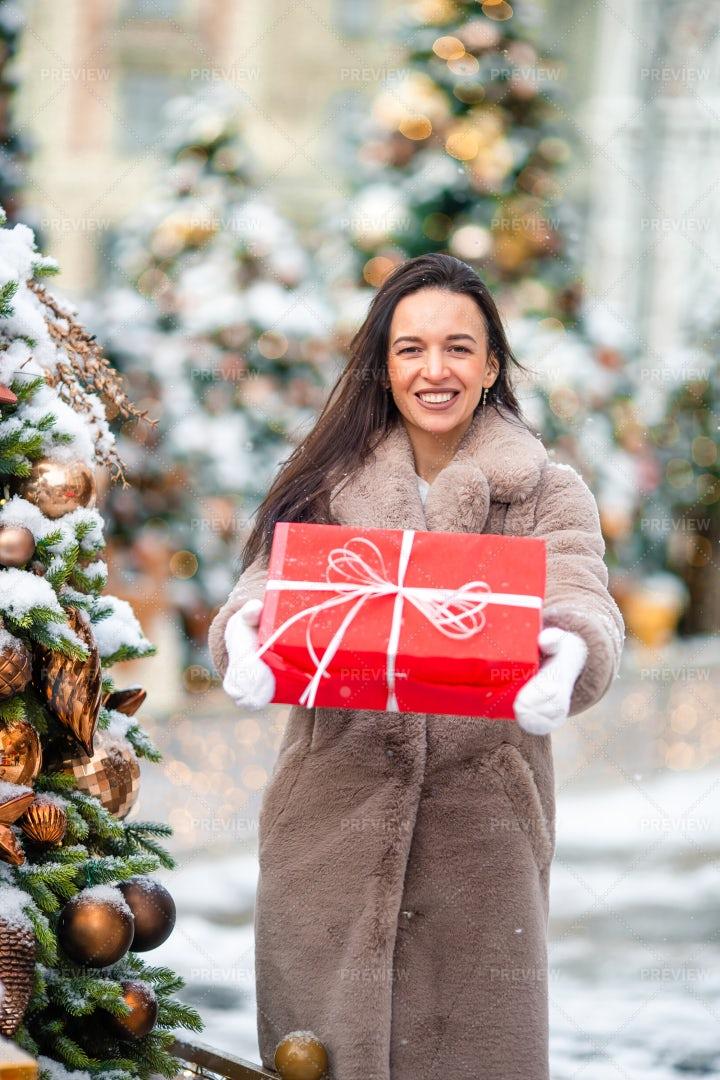 Gift And Christmas Trees: Stock Photos