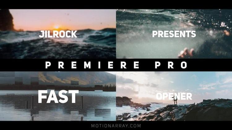 Clean Rhythmic Opener: Premiere Pro Templates