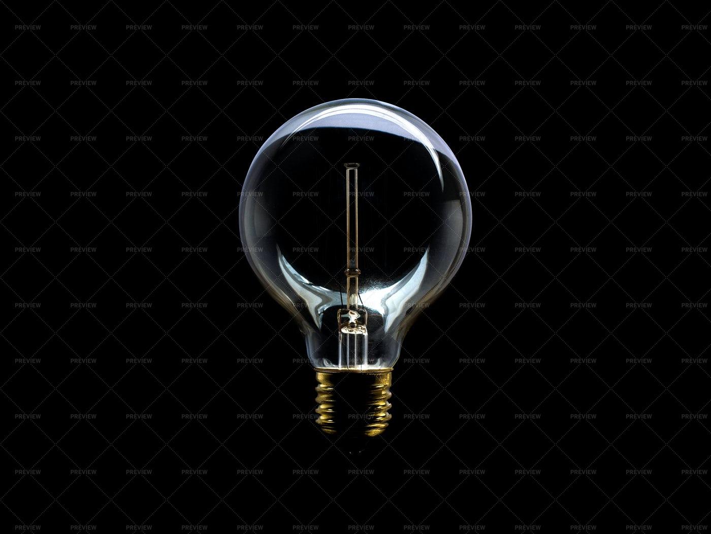 Incandescent Light Bulb Off: Stock Photos