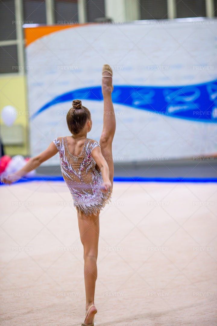 Girl In Gymnastic Performance: Stock Photos