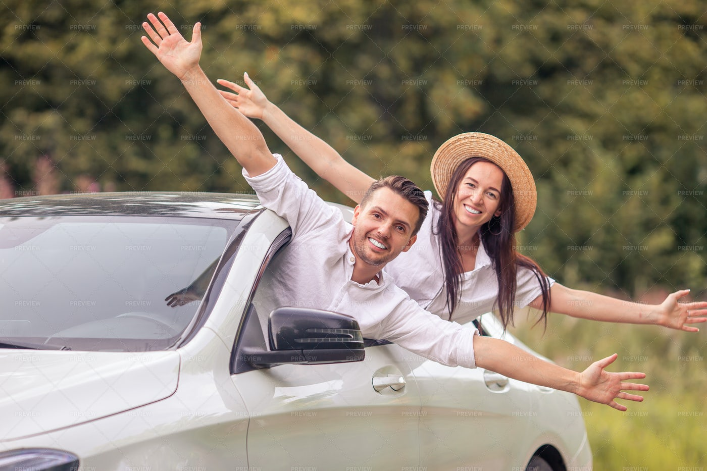 Couple On A Road Trip: Stock Photos