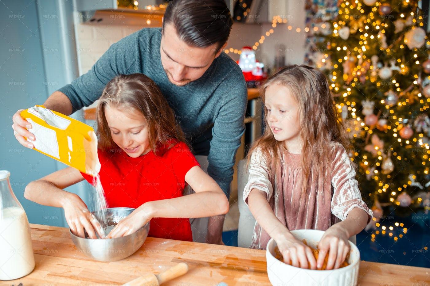 Baking Cookies On Christmas: Stock Photos
