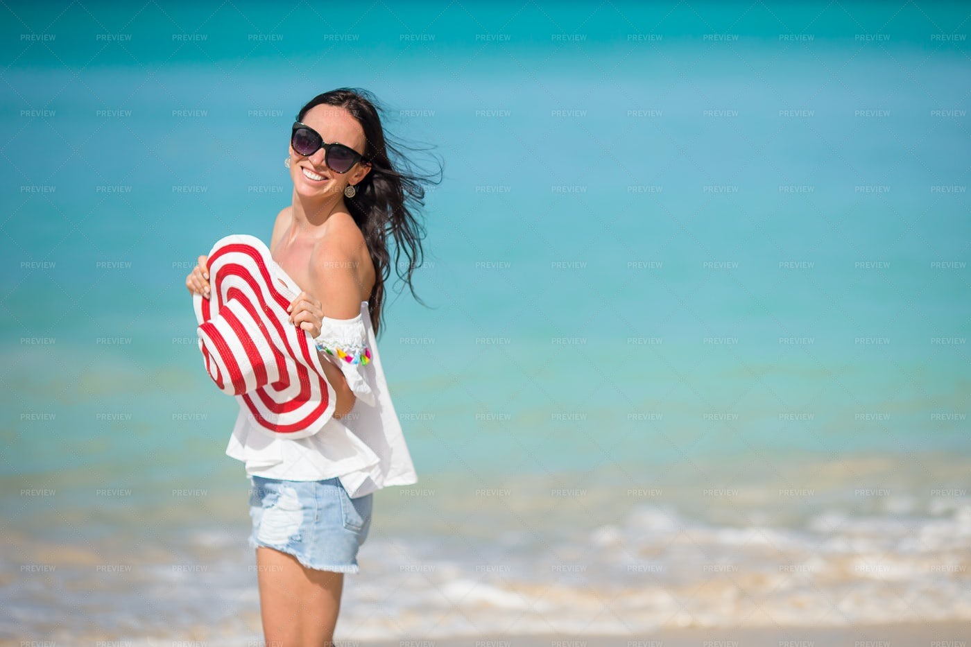 Woman On Tropical Vacation: Stock Photos