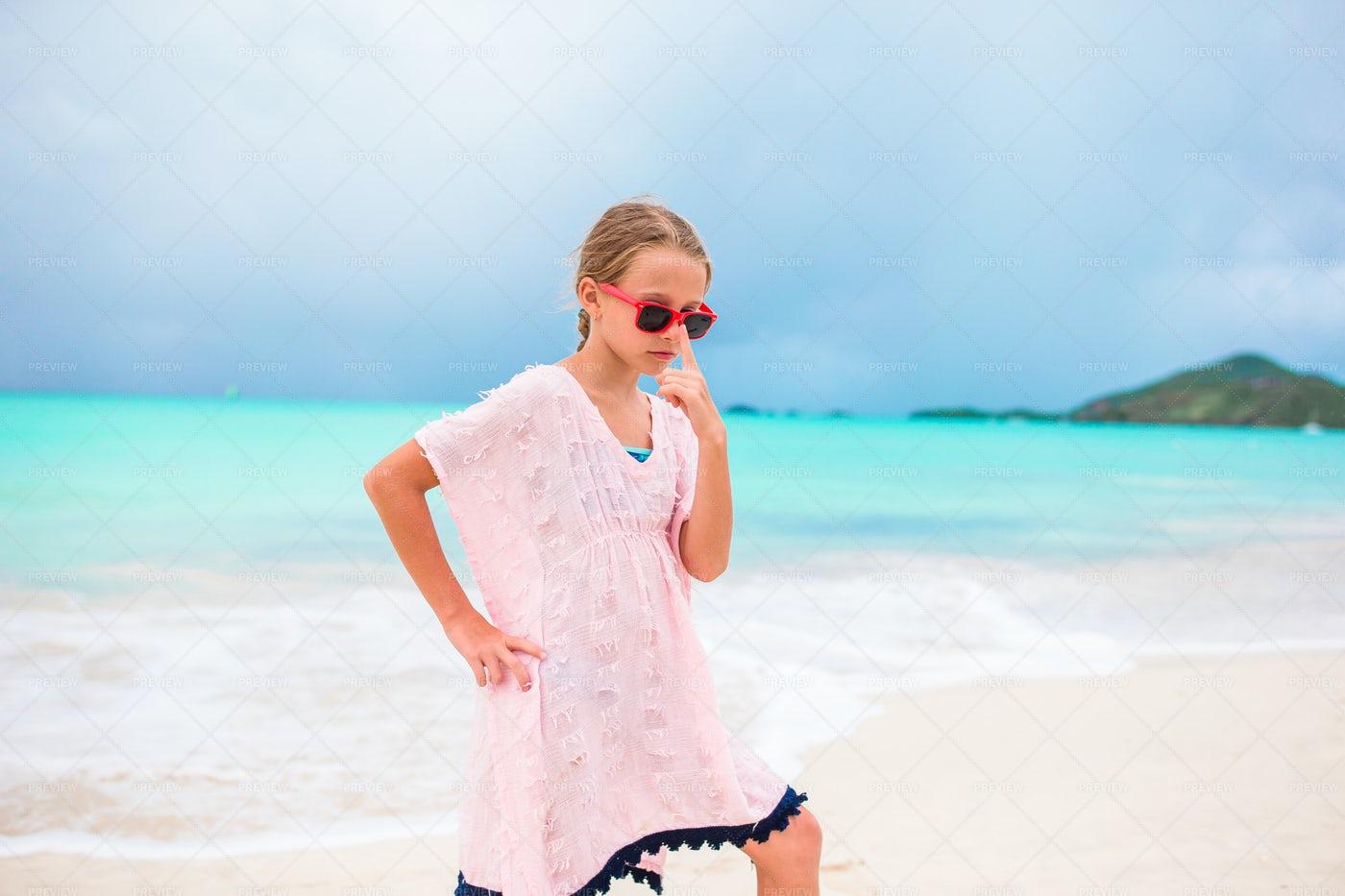 Beach Portrait Of Girl: Stock Photos