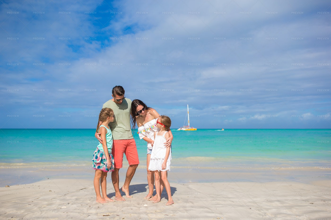Family On Beach Vacation: Stock Photos