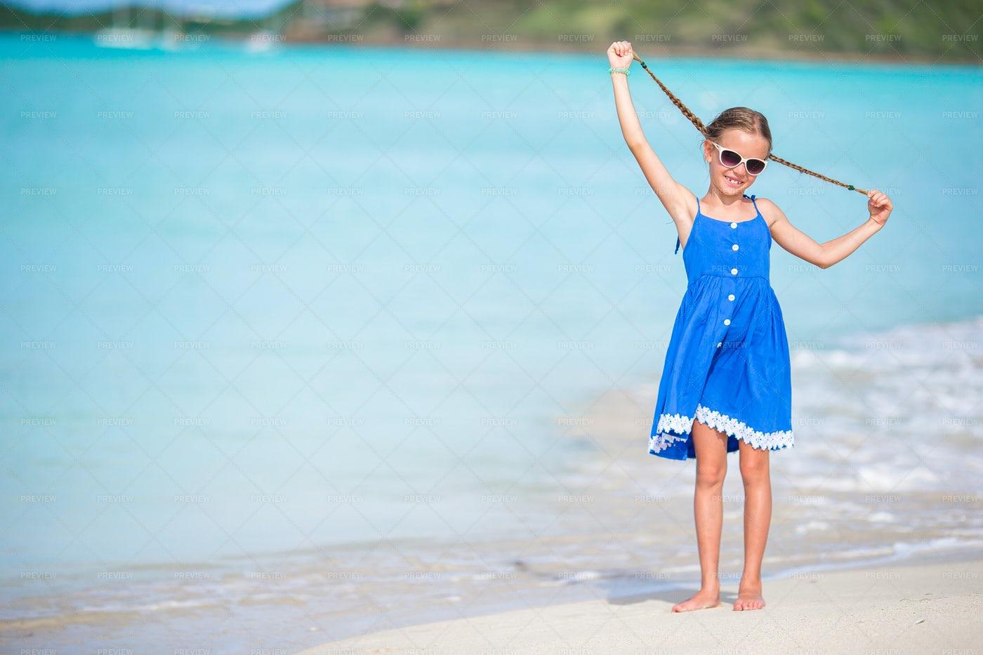 Girl By The Sea: Stock Photos