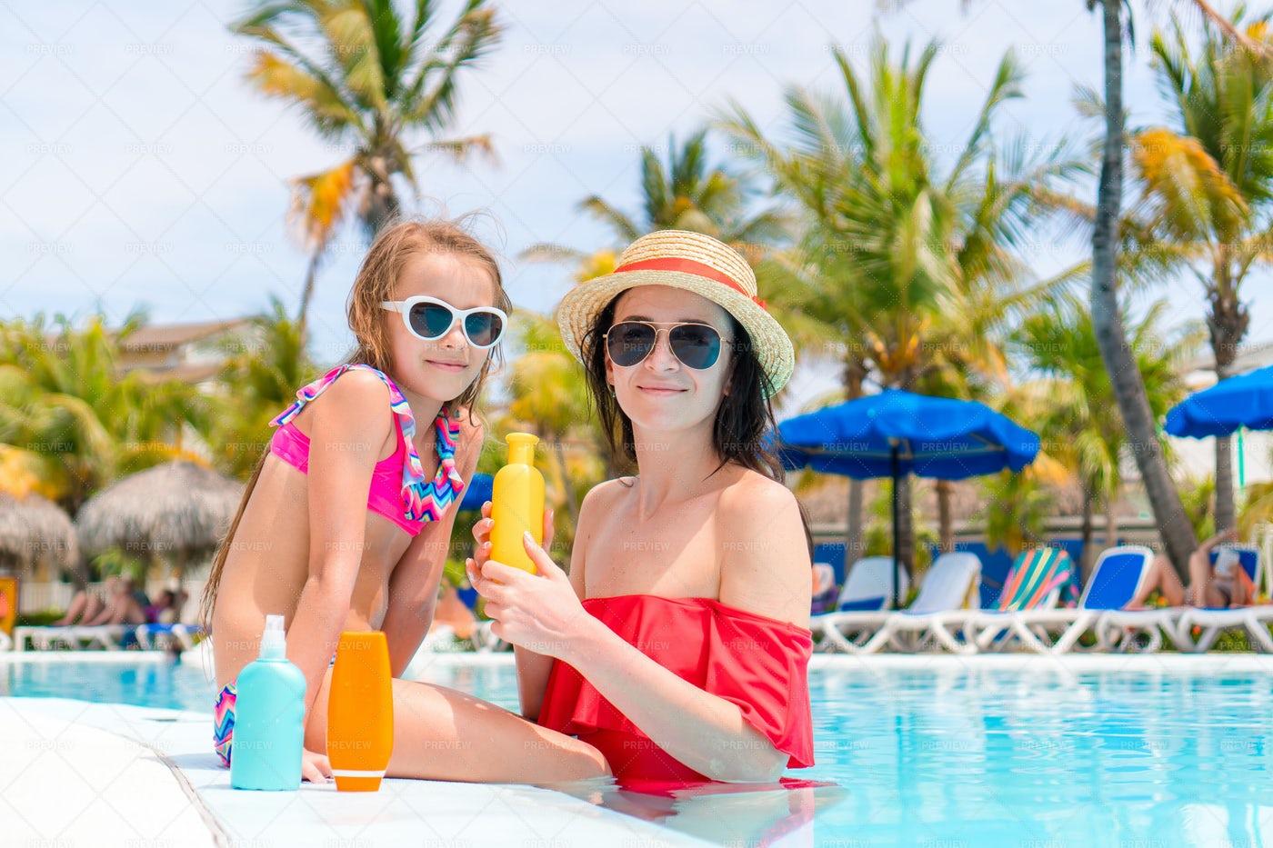 Holding A Sunscreen Bottle: Stock Photos