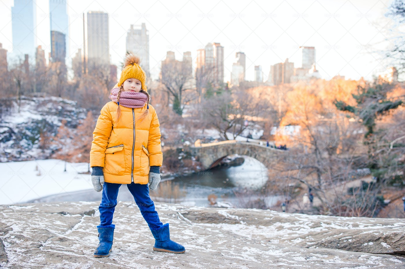 A Girl In Central Park: Stock Photos