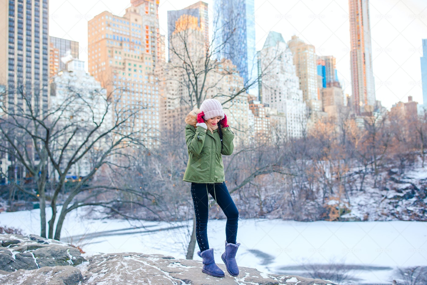 Winter In Manhattan: Stock Photos