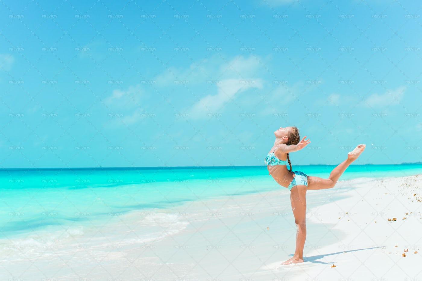 Little Dancer On Beach: Stock Photos