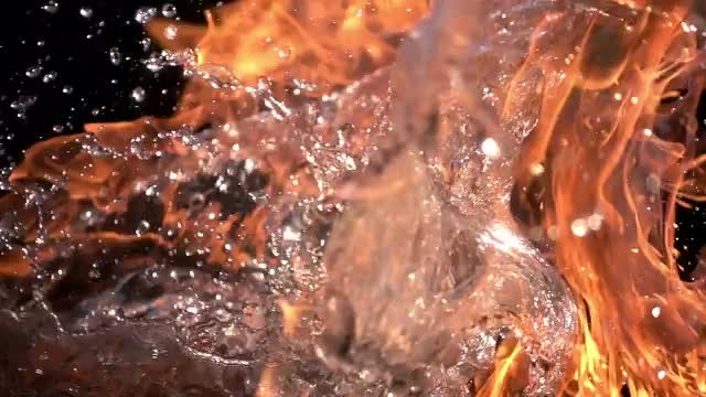 Fire and Water: Stock Video
