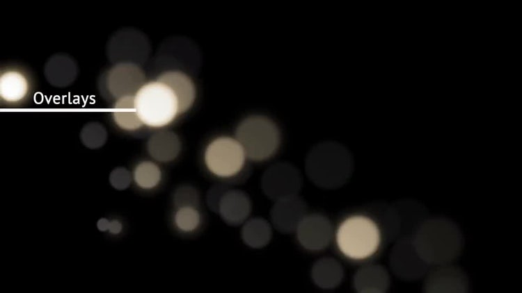 Bokeh Light Overlays: Motion Graphics