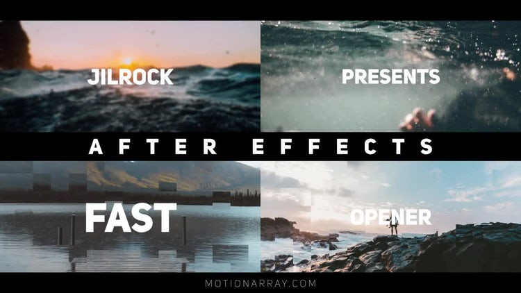 Clean Rhythmic Opener: After Effects Templates