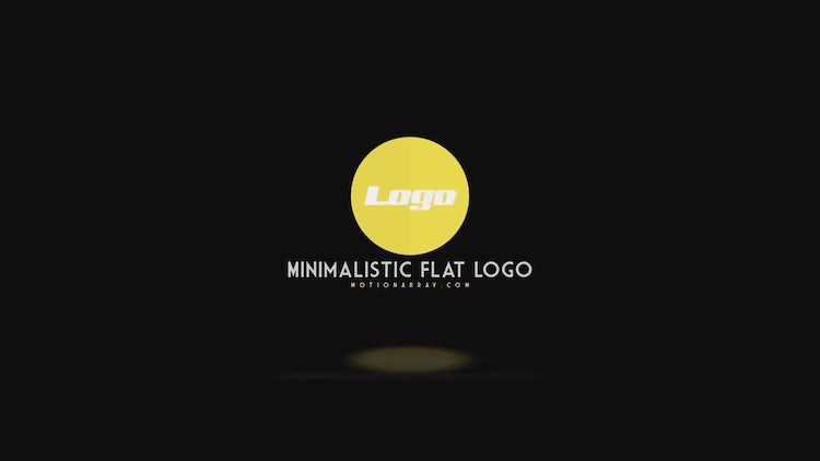 4 Minimalistic Flat Logo: After Effects Templates