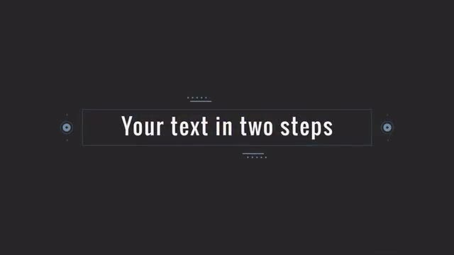 Your text in two steps: After Effects Templates